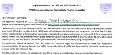 Pension Petition